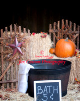 Fall Farm Bath digital layered background by Jax Custom Photography. Great for Fall and Thanksgiving themed prints and cards. Psd file contains 5 layers. Background, Background with vignette, Tub Fron